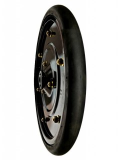 1x12 Smooth Crown Steel Wheel 40mm Met
